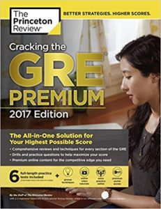 princeton review gre book