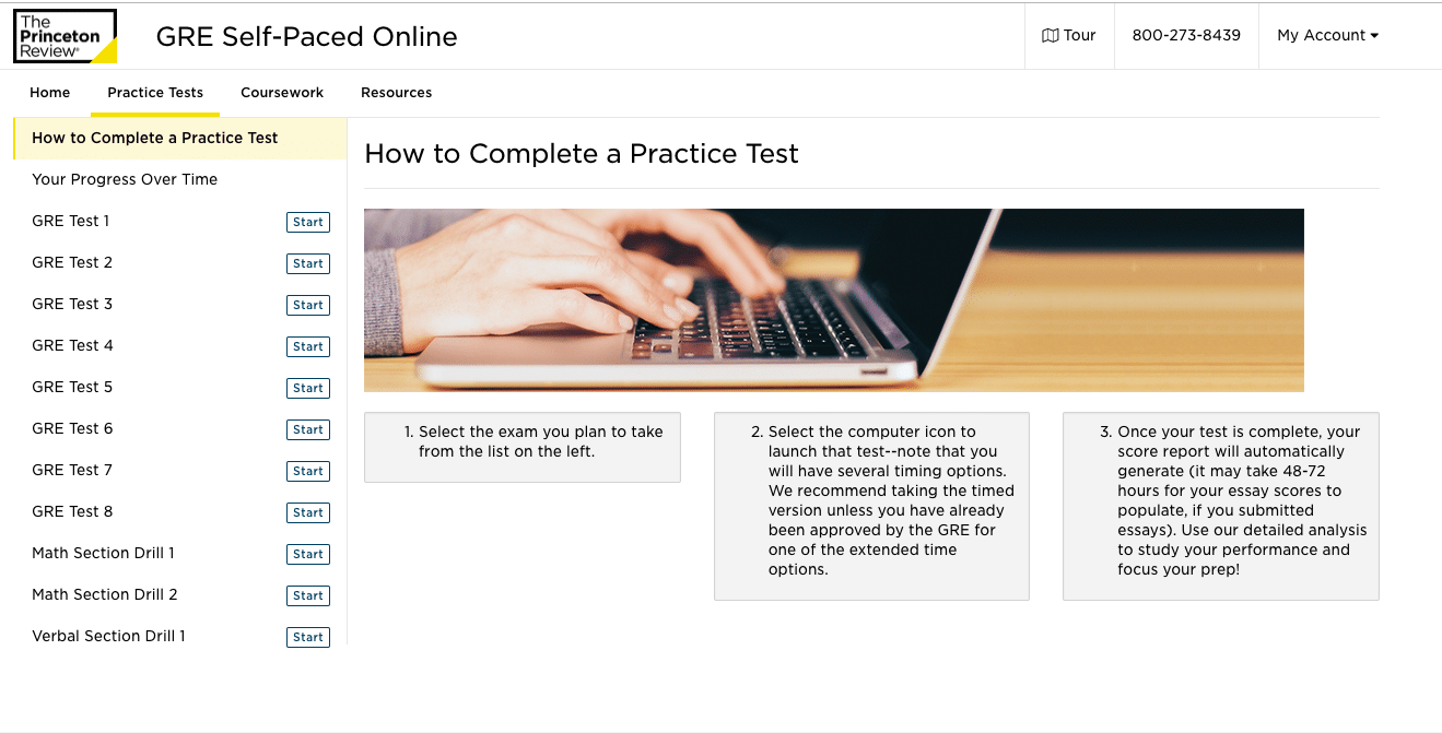 the princeton review gre practice tests
