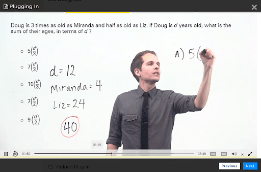 the princeton review gre video lectures