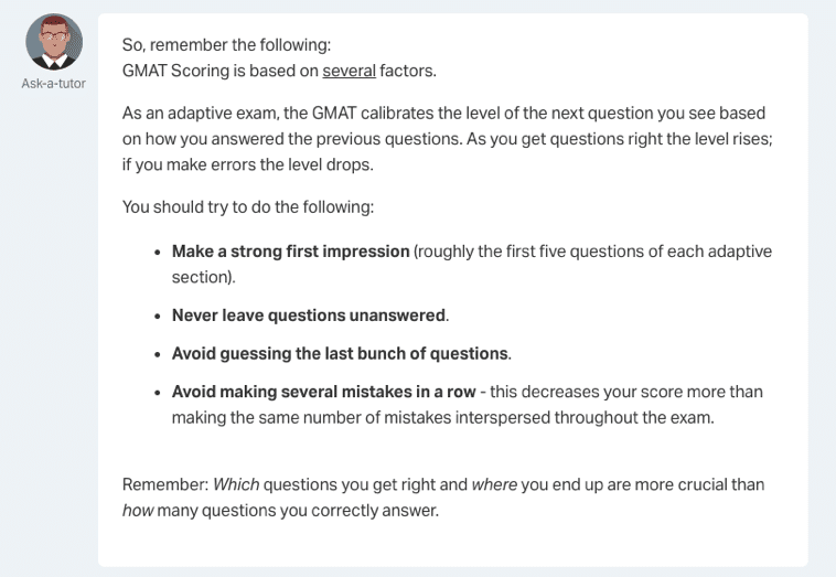 economist gmat test-taking guidance