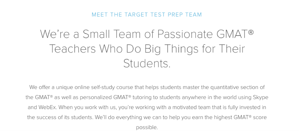target test prep gmat experienced instructors