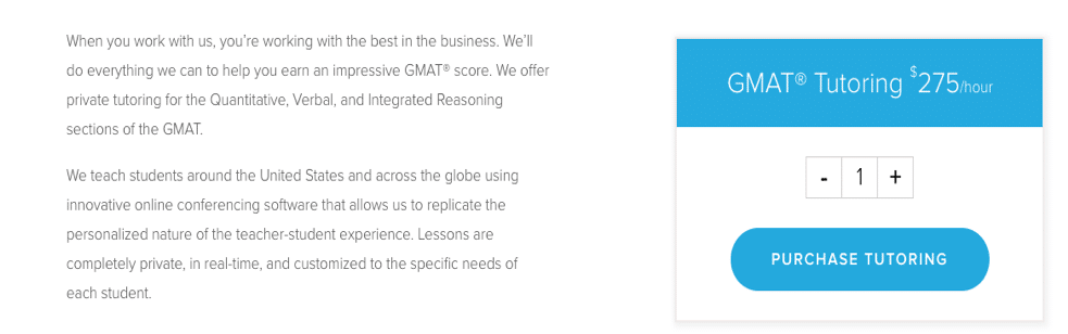 target test prep gmat private tutoring