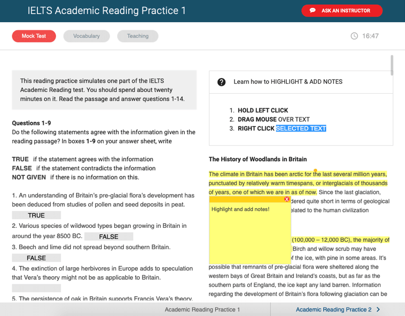 bestmytest ielts text annotation feature