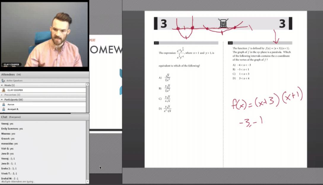 prep expert SAT interactive classes