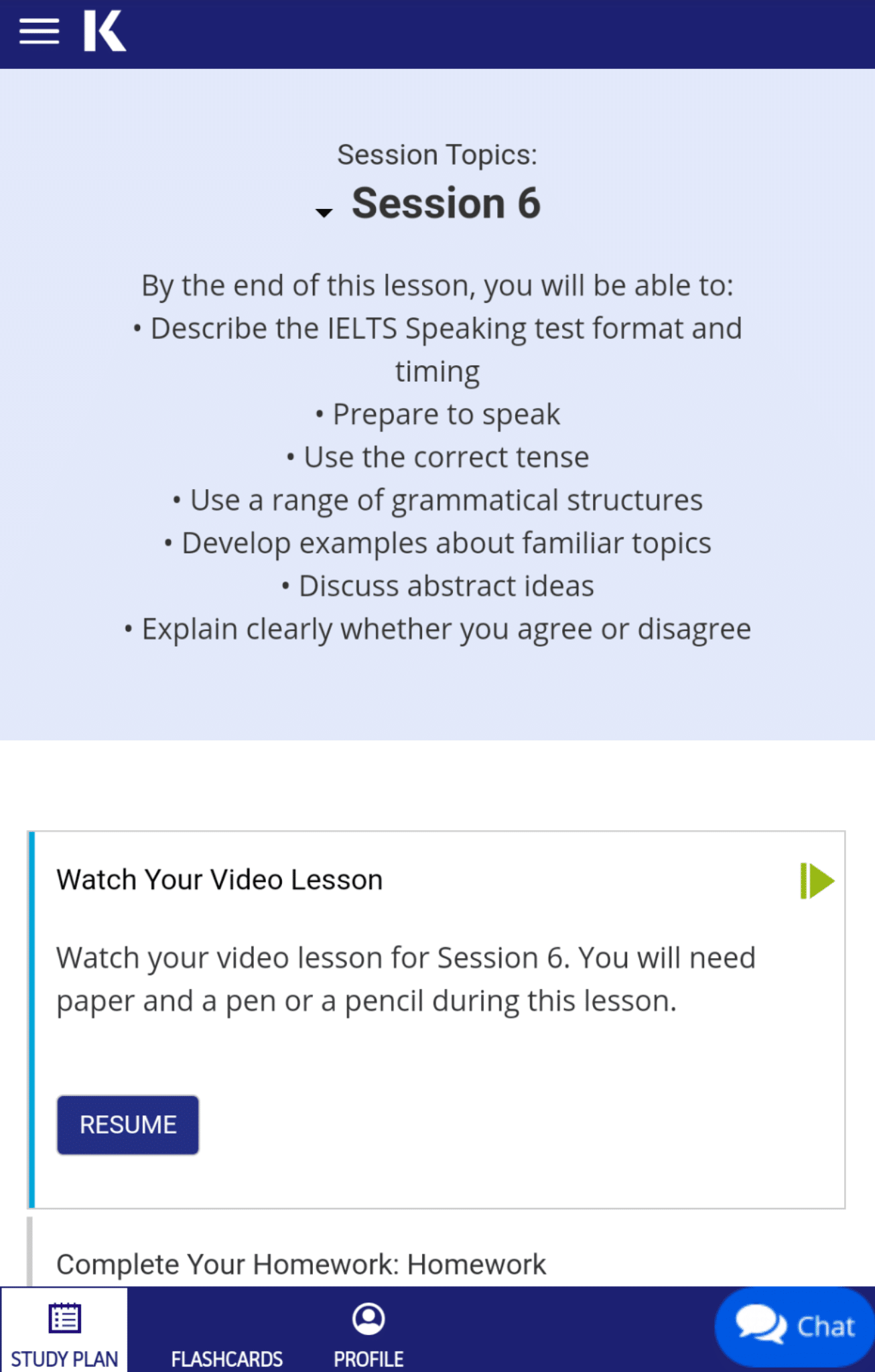 Kaplan IELTS session