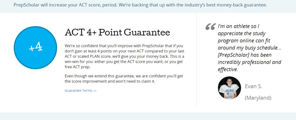 PrepScholar ACT Score Guarantee