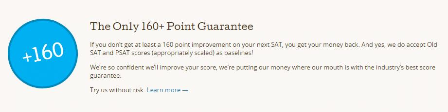 PrepScholar SAT Guarantee