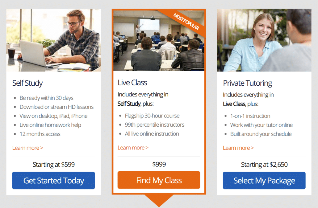 GRE Class Packages