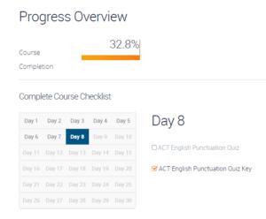 ACT Course Progress Tracker
